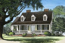 Dream House Plan - Country Exterior - Front Elevation Plan #137-125
