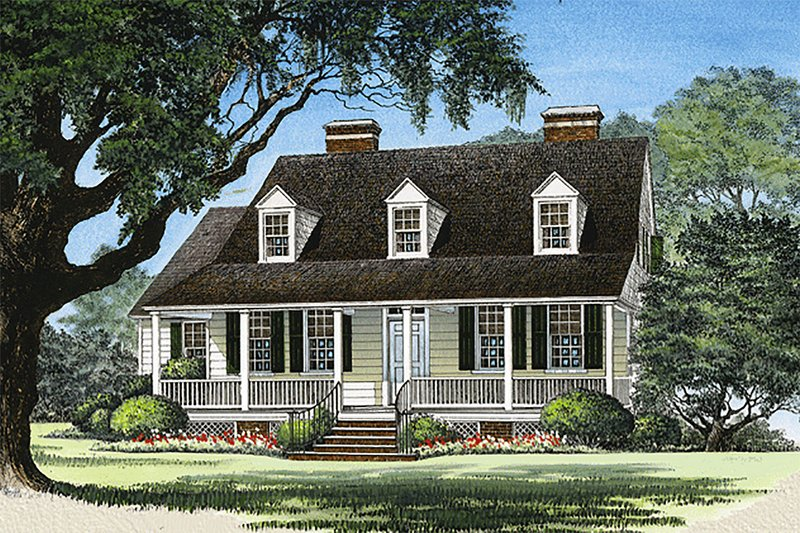 Country Style House Plan - 3 Beds 3 Baths 2500 Sq/Ft Plan #137-125 Exterior - Front Elevation