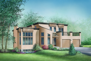 Contemporary Style House Plan - 3 Beds 1.5 Baths 1865 Sq/Ft Plan #25-2166 Exterior - Front Elevation