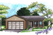 Ranch Style House Plan - 2 Beds 1 Baths 950 Sq/Ft Plan #70-1014 Exterior - Front Elevation