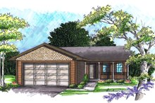 Ranch Exterior - Front Elevation Plan #70-1014