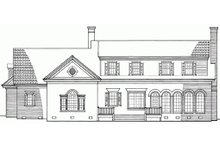 Southern Exterior - Rear Elevation Plan #137-102