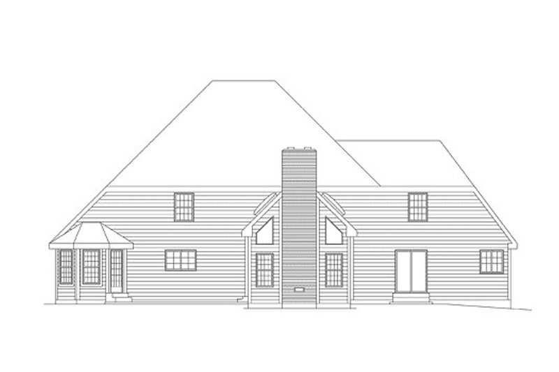 Traditional Exterior - Rear Elevation Plan #57-205 - Houseplans.com
