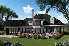 Home Plan - Traditional Exterior - Rear Elevation Plan #70-1434
