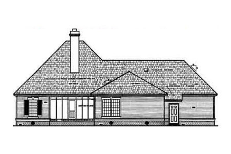 European Exterior - Rear Elevation Plan #45-121 - Houseplans.com