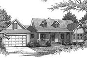 Country Style House Plan - 3 Beds 2 Baths 1455 Sq/Ft Plan #14-133 Exterior - Front Elevation