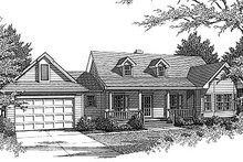 Home Plan - Country Exterior - Front Elevation Plan #14-133