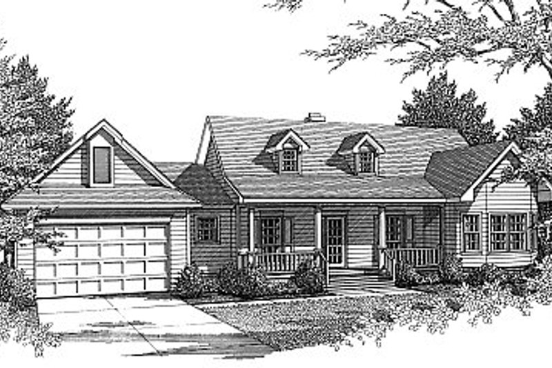 Country Exterior - Front Elevation Plan #14-133 - Houseplans.com