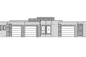 Adobe / Southwestern Exterior - Front Elevation Plan #24-284