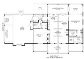 Traditional Style House Plan - 2 Beds 2 Baths 1650 Sq/Ft Plan #932-408