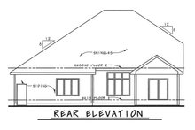 Home Plan - Traditional Exterior - Rear Elevation Plan #20-2083