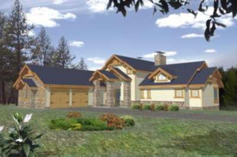Craftsman Exterior - Front Elevation Plan #117-383 - Houseplans.com