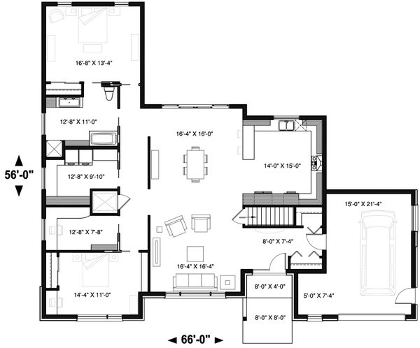Ranch Floor Plan - Main Floor Plan Plan #23-2650