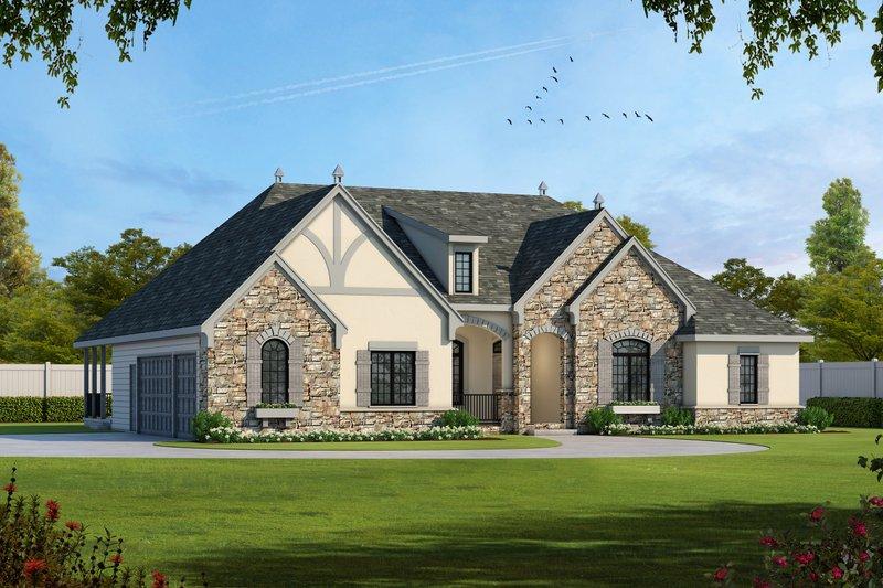 Dream House Plan - European Exterior - Front Elevation Plan #20-1822