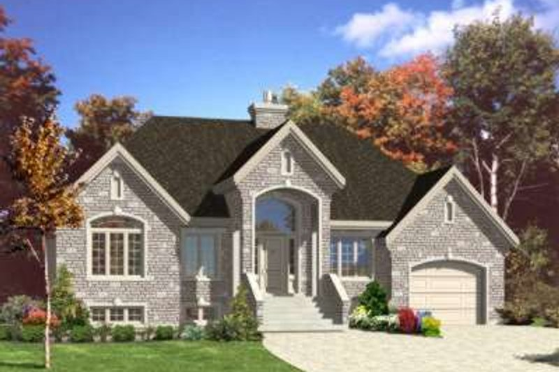European Style House Plan - 2 Beds 1 Baths 1326 Sq/Ft Plan #138-104 Exterior - Front Elevation