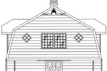 House Plan Design - Country Exterior - Rear Elevation Plan #117-481