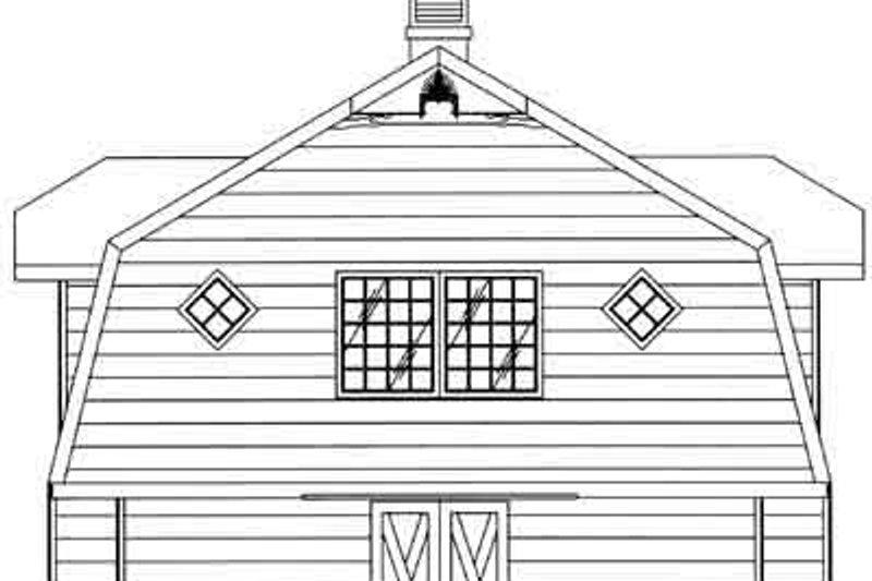 Country Exterior - Rear Elevation Plan #117-481 - Houseplans.com