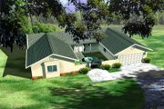 Ranch Style House Plan - 3 Beds 2 Baths 1874 Sq/Ft Plan #1-397 Exterior - Front Elevation