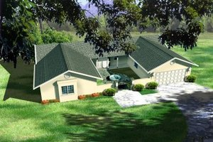 Ranch Exterior - Front Elevation Plan #1-397
