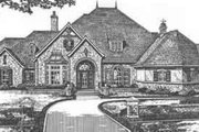 European Style House Plan - 4 Beds 4.5 Baths 4270 Sq/Ft Plan #310-514 Exterior - Front Elevation