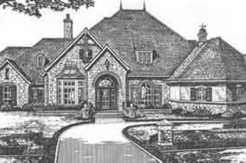 European Style House Plan - 4 Beds 4.5 Baths 4270 Sq/Ft Plan #310-514
