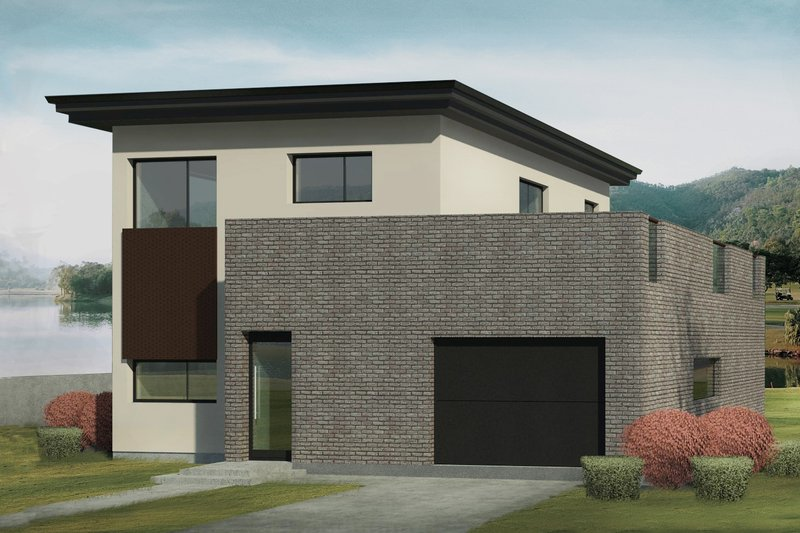 Contemporary Style House Plan - 3 Beds 2 Baths 1394 Sq/Ft Plan #906-8 Photo