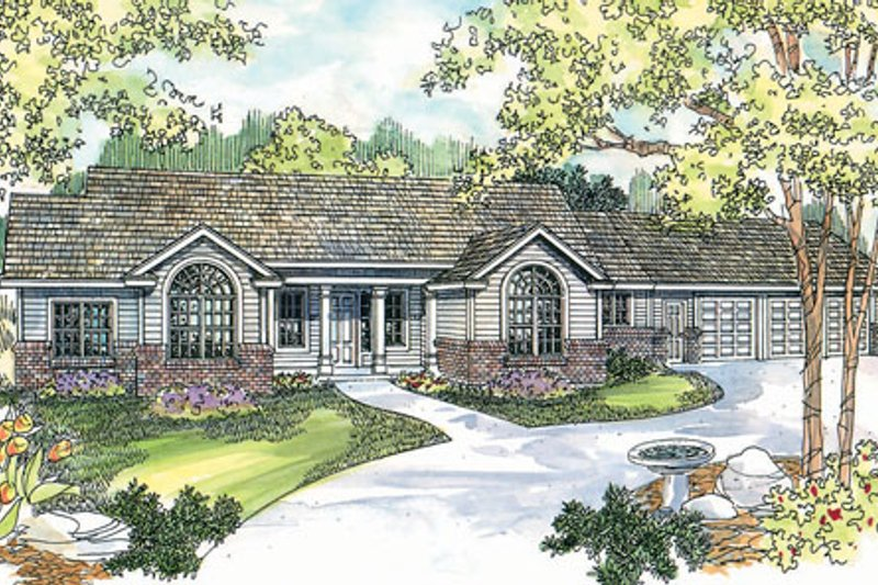 Traditional Exterior - Front Elevation Plan #124-721 - Houseplans.com