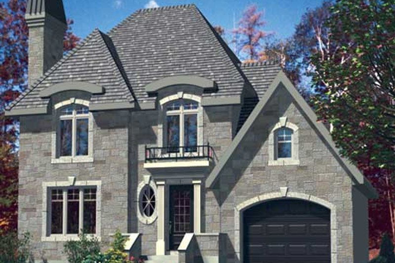 European Style House Plan - 3 Beds 1.5 Baths 1226 Sq/Ft Plan #138-284 Exterior - Front Elevation