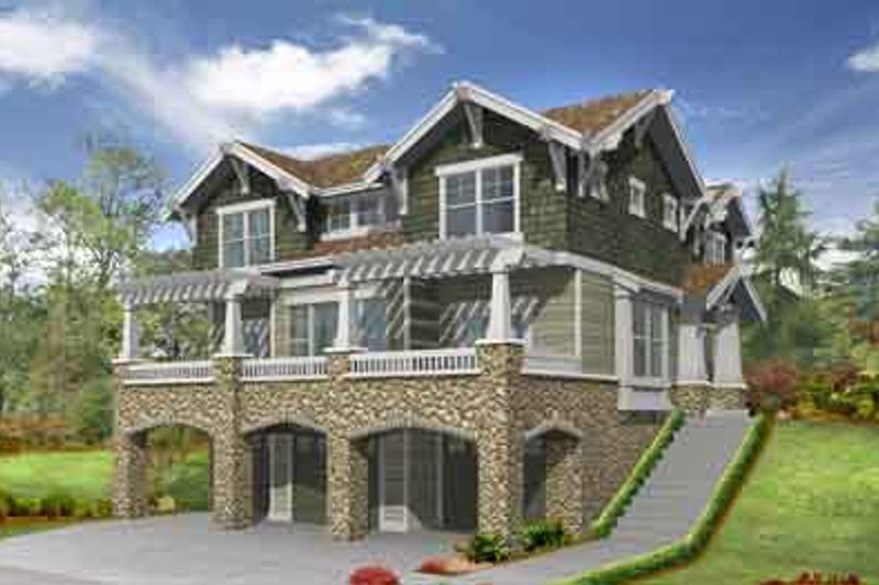 Country Style House Plan - 3 Beds 2.5 Baths 2675 Sq/Ft Plan #132-118 Exterior - Front Elevation