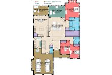 European Floor Plan - Main Floor Plan Plan #63-415