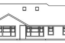 Ranch Exterior - Rear Elevation Plan #124-371