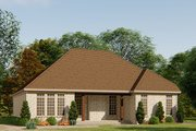 European Style House Plan - 3 Beds 3 Baths 1750 Sq/Ft Plan #923-138 Exterior - Rear Elevation