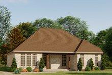House Plan Design - European Exterior - Rear Elevation Plan #923-138