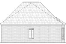 Southern Exterior - Rear Elevation Plan #21-229