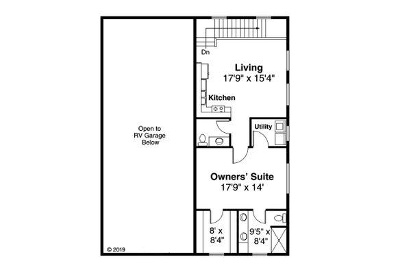 Traditional Floor Plan - Upper Floor Plan #124-1197