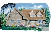 Traditional Style House Plan - 4 Beds 2.5 Baths 2559 Sq/Ft Plan #47-633 Exterior - Front Elevation