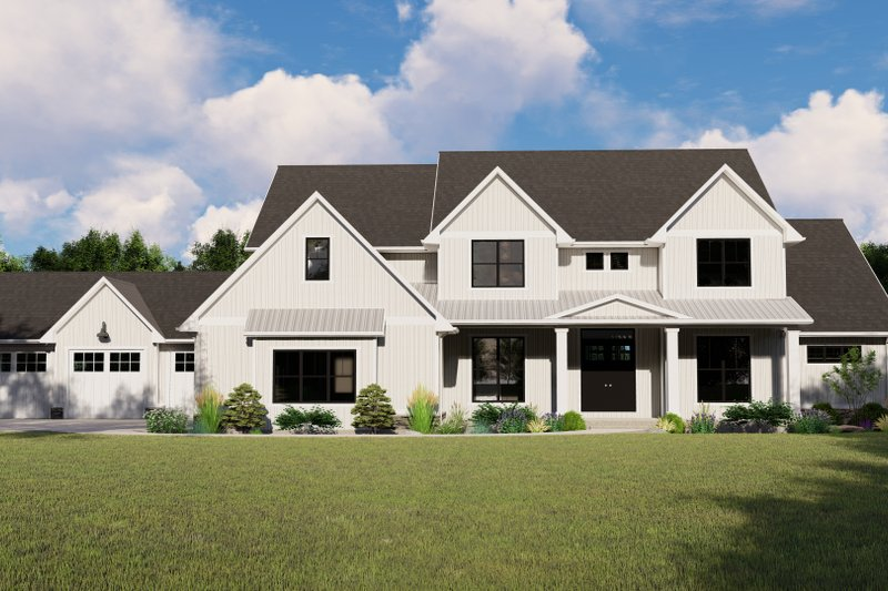 Architectural House Design - Farmhouse Exterior - Front Elevation Plan #1064-99