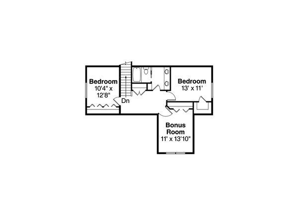 Craftsman Floor Plan - Upper Floor Plan Plan #124-1020