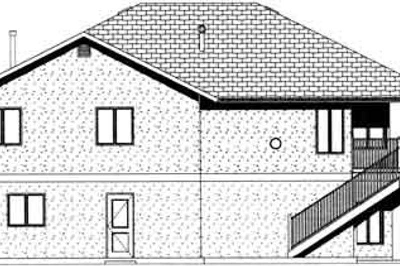 Exterior - Rear Elevation Plan #126-122 - Houseplans.com