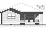 Bungalow Style House Plan - 3 Beds 2 Baths 1500 Sq/Ft Plan #422-28 Exterior - Rear Elevation