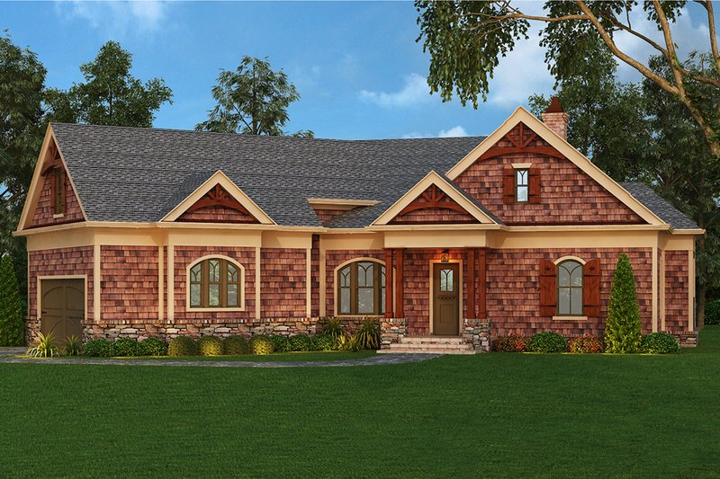 House Plan Design - Craftsman Exterior - Front Elevation Plan #119-416