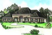 European Style House Plan - 4 Beds 3.5 Baths 2789 Sq/Ft Plan #15-146 Exterior - Front Elevation