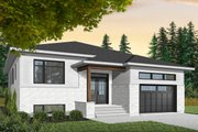 Modern Style House Plan - 3 Beds 2 Baths 1590 Sq/Ft Plan #23-2698 Exterior - Front Elevation