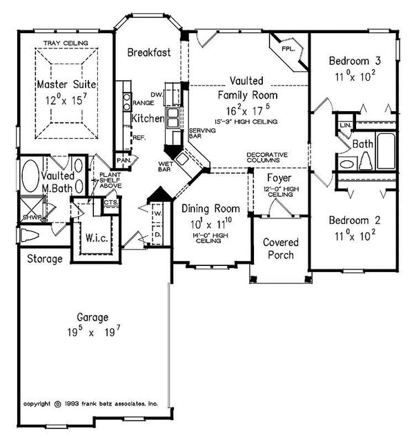 European Floor Plan - Main Floor Plan Plan #927-23