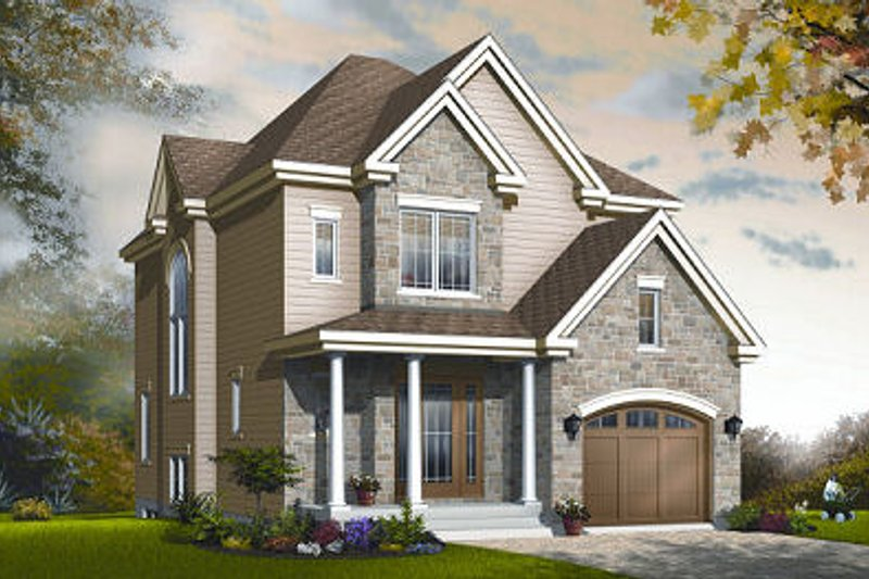 Dream House Plan - Traditional Exterior - Front Elevation Plan #23-834