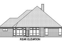 European Exterior - Rear Elevation Plan #84-470