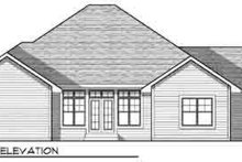 Dream House Plan - Traditional Exterior - Rear Elevation Plan #70-828