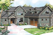 House Plan Design - Traditional Exterior - Front Elevation Plan #124-849