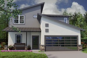 Home Plan Design - Modern Exterior - Front Elevation Plan #472-8