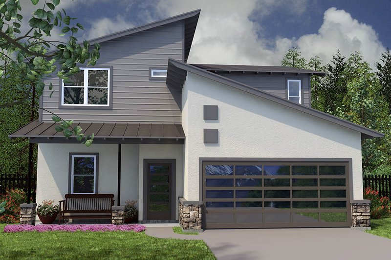 Dream House Plan - Modern Exterior - Front Elevation Plan #472-8